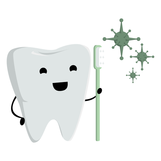 Tooth and toothbrush character Transparent PNG