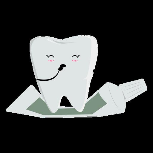 Carácter de diente feliz
