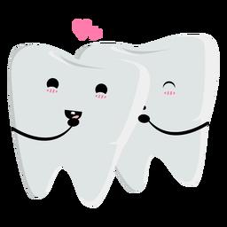 Carácter de dientes enamorados