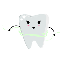 Tooth flossing character