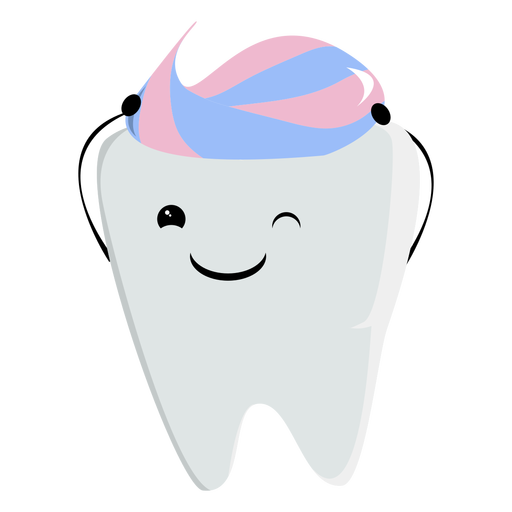 Toothpaste hair character