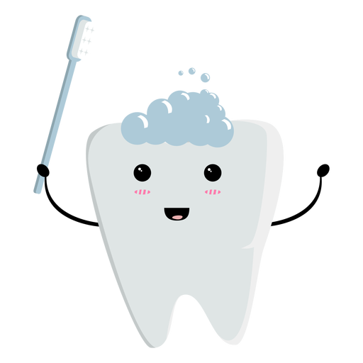 Carácter de diente limpio