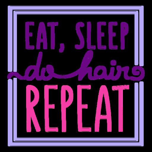 Hair routine badge