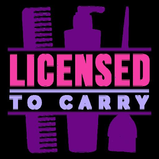 Hairdresser licence badge