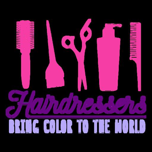 Crachá de cabeleireiro com cores