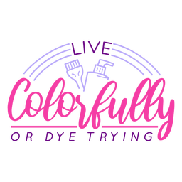 Live colorfully badge