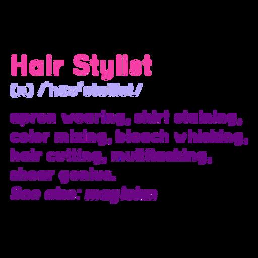 Hair stylist definition