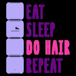 Hair routine schedule