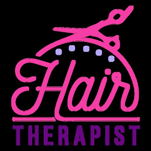 Hair therapist badge