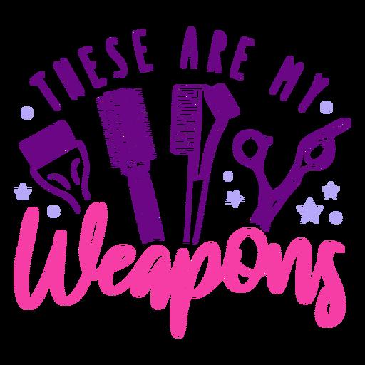 Hairdresser weapons badge