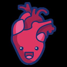 Dibujos animados de corazón feliz
