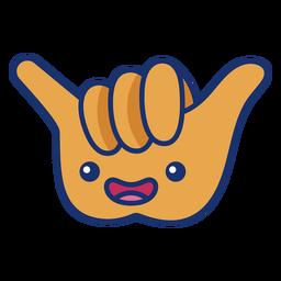 Cool hand symbol cartoon
