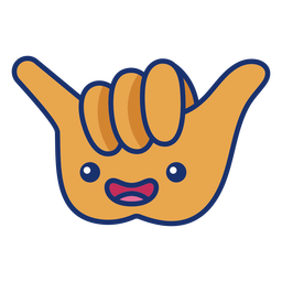Dibujos animados de símbolo de mano fría