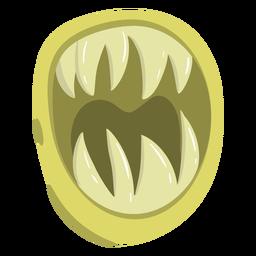 Desenho de boca de monstro afiado