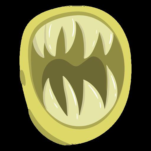 Dibujos animados de boca de monstruo afilado