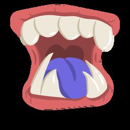 Dibujos animados de boca abierta monstruo