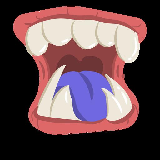 Open monster mouth cartoon