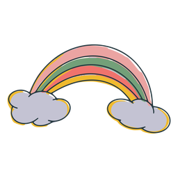 Rainbow colorful doodle