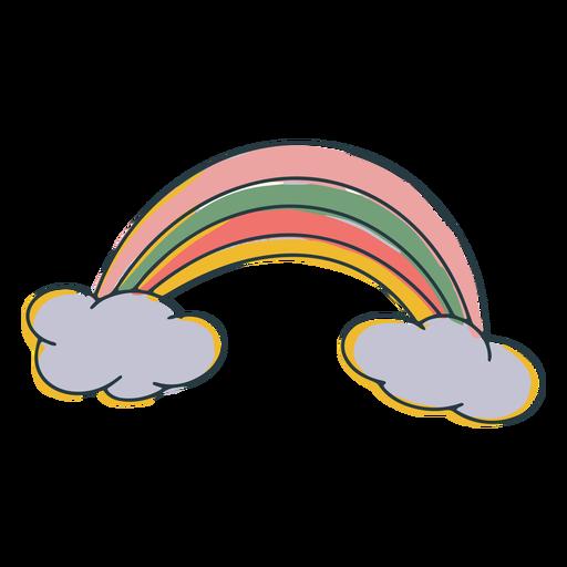 Doodle colorido del arco iris