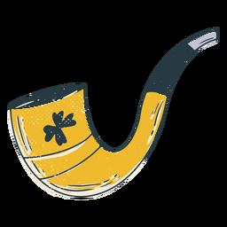 Irish smoking pipe doodle