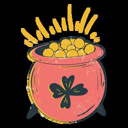 Pot of gold doodle