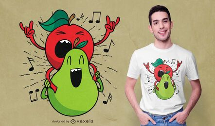 Apple and pear t-shirt design