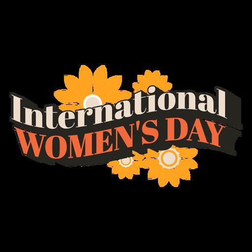 Cita vintage del día internacional de la mujer Transparent PNG