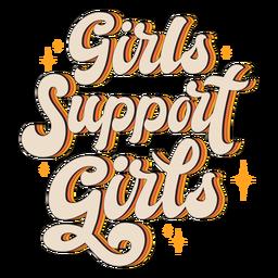 Meninas apoiam citações vintage de meninas