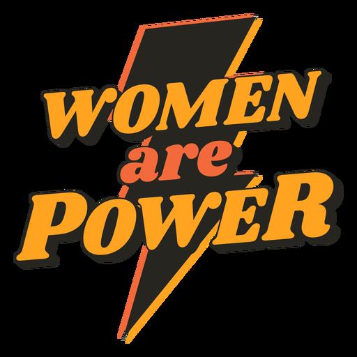Las mujeres son cita vintage de poder