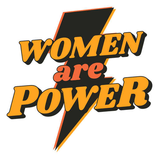 Mulheres são citações vintage poder Transparent PNG