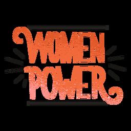 Letras de insignia de poder de las mujeres