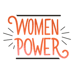 Women power badge lettering