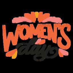 Insignia del día de la mujer