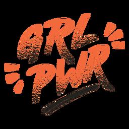 Letras do distintivo de poder feminino