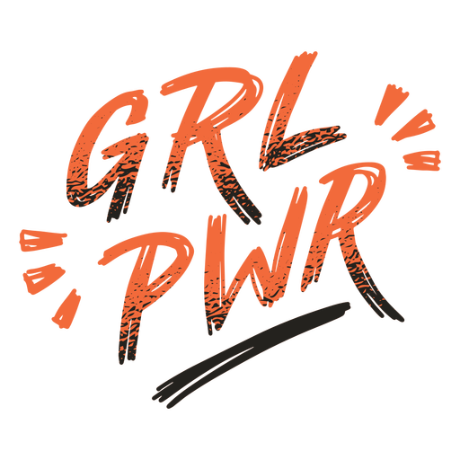 Girl power badge lettering