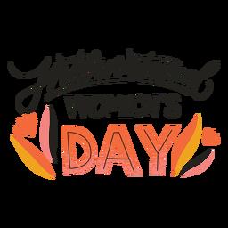 Crachá do Dia Internacional da Mulher