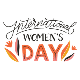 Insignia del día internacional de la mujer