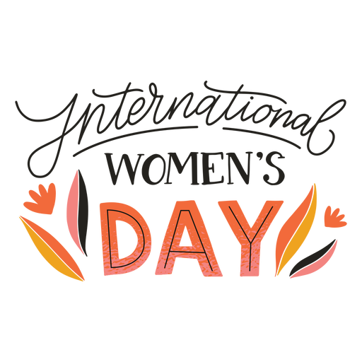 International women's day badge Transparent PNG