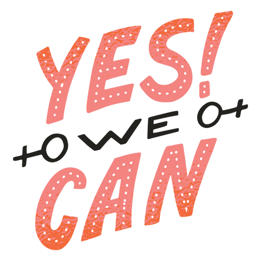 Yes we can badge