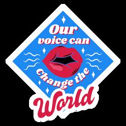 Cambiar la insignia del mundo