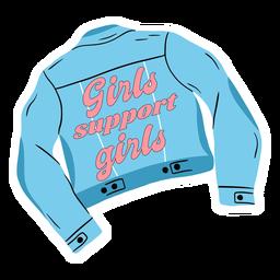 Las niñas apoyan la cita de la chaqueta de las niñas