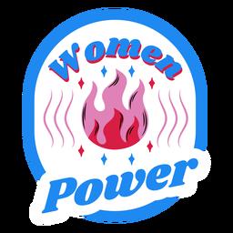 Insignia azul de poder de las mujeres