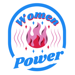 Women power blue badge