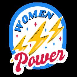 Insignia colorida del poder de las mujeres