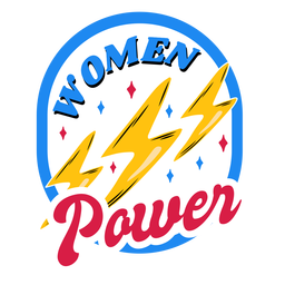 Women power colorful badge