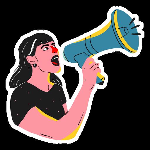 Woman megaphone illustration