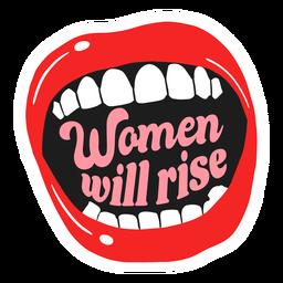 Mulheres vão subir crachá boca