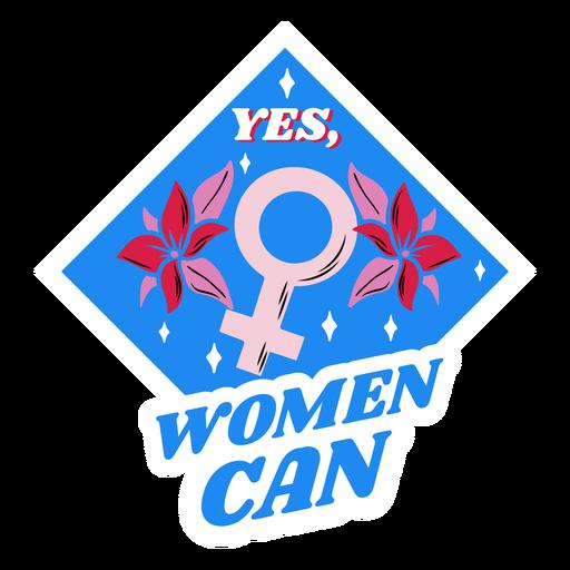 Women can blue badge