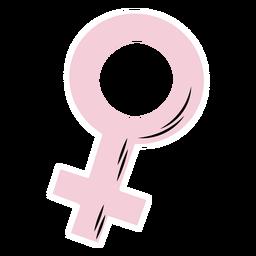 Female symbol pink