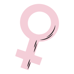 Símbolo femenino rosa